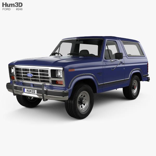 Ford Bronco 1982 3D模型