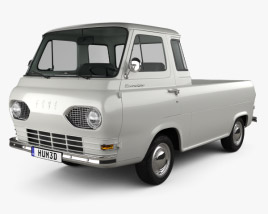 3D model of Ford E-Series Econoline Pickup 1963