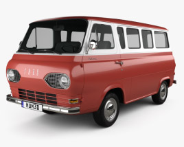 3D model of Ford E-Series Falcon Club Wagon 1963