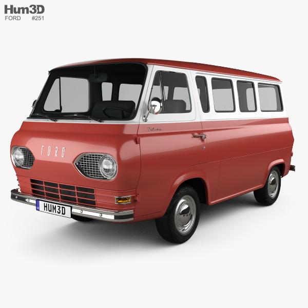 Ford E-Series Falcon Club Wagon 1963 3D model