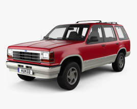 3D model of Ford Explorer 1990