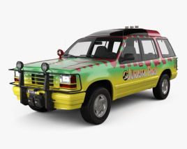 3D model of Ford Explorer Jurassic Park 1993