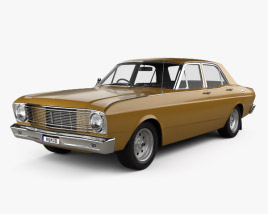 3D model of Ford Falcon 1968