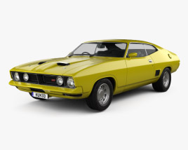3D model of Ford Falcon GT Coupe 1973