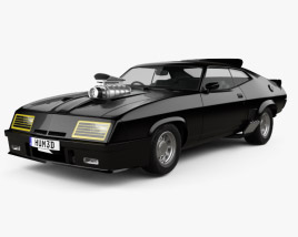 3D model of Ford Falcon GT Coupe Interceptor Mad Max 1979