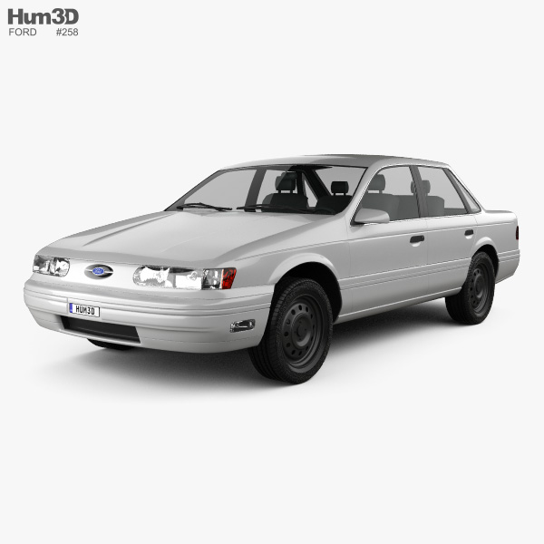 3D model of Ford Taurus 1992