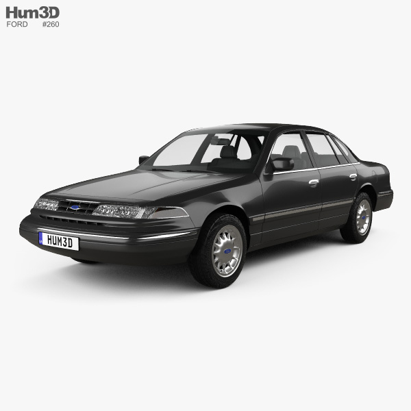 3D model of Ford Crown Victoria 1995