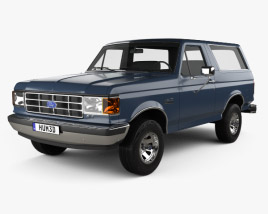3D model of Ford Bronco 1989