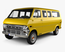 3D model of Ford E-Series Econoline Club Wagon 1971