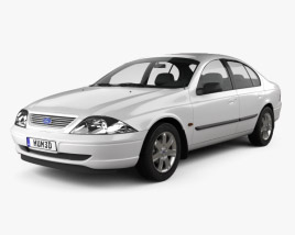 3D model of Ford Falcon Forte 2000