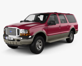 3D model of Ford Excursion 1999