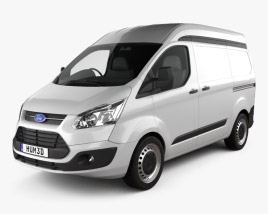 3D model of Ford Transit Custom Panel Van L1H2 2012