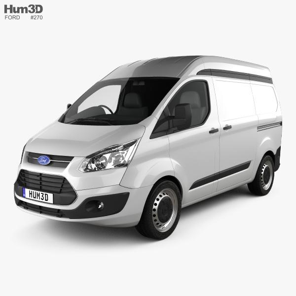 Ford Transit Custom Panel Van L1H2 2012 3D model