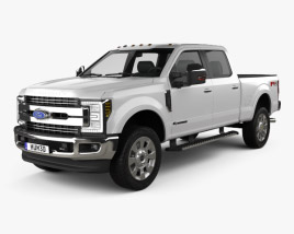 3D model of Ford F-350 Super Duty Super Crew Cab King Ranch 2015