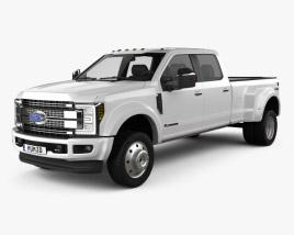 3D model of Ford F-450 Super Duty Super Crew Cab Platinum 2015