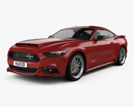3D model of Ford Mustang Shelby Super Snake 2015