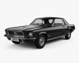 3D model of Ford Mustang Hardtop 1968
