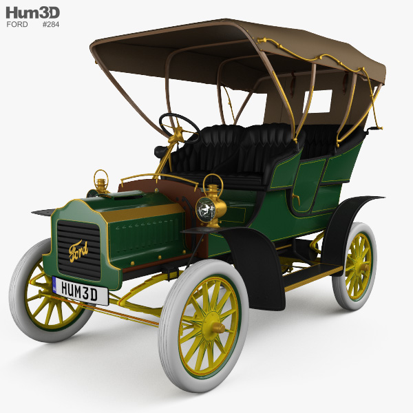 3D model of Ford Model F Touring 1905