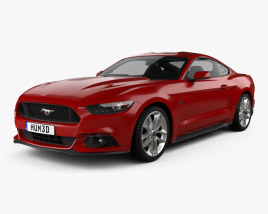 3D model of Ford Mustang GT with HQ interior 2015