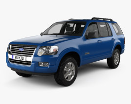 3D model of Ford Explorer 2006
