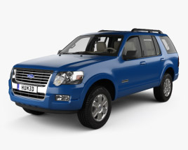 3D model of Ford Explorer with HQ interior 2006
