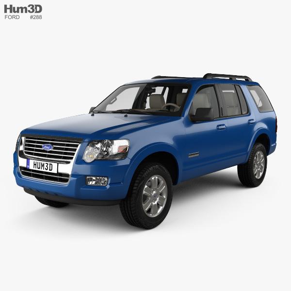 Ford Explorer com interior 2006 Modelo 3d