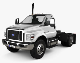3D model of Ford F-650 / F-750 Regular Cab Tractor 2016