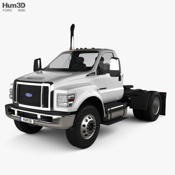 Ford F-650 / F-750 Regular Cab Tractor 2016 3D model