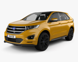 3D model of Ford Edge Sport 2016