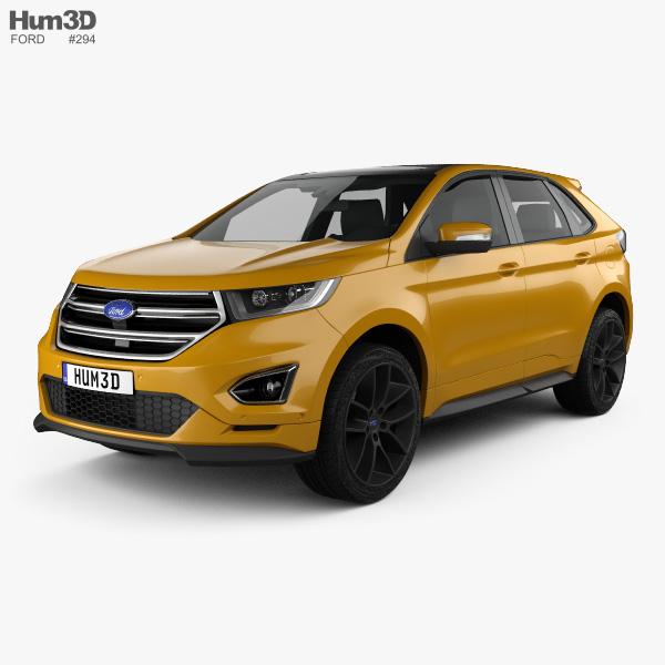 3D model of Ford Edge Sport 2016
