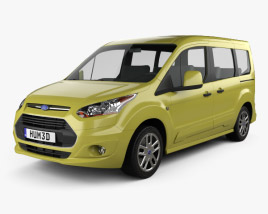 3D model of Ford Tourneo Connect SWB 2013
