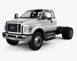 3D model of Ford F-650 / F-750 Super Cab Chassis 2016