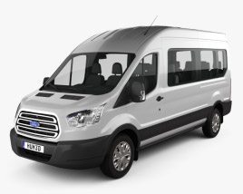 3D model of Ford Transit Passenger Van L2H3 2012