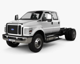 3D model of Ford F-650 / F-750 Crew Cab Chassis 2016