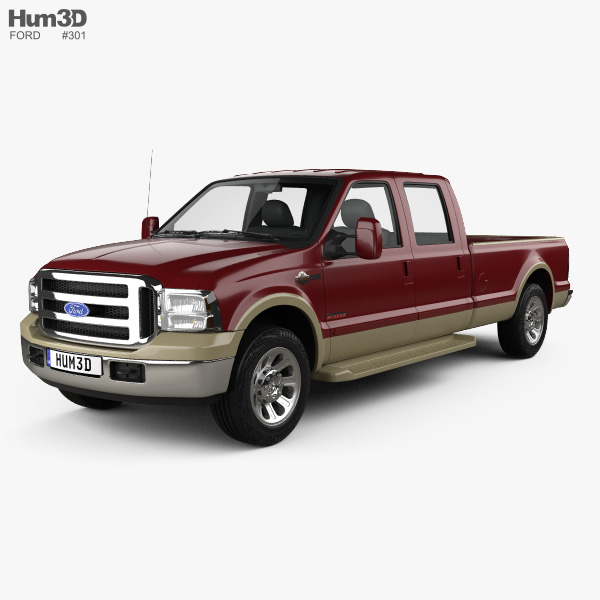 3D model of Ford F-350 Super Crew Cab King Ranch 2006