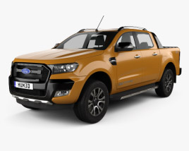 3D model of Ford Ranger Double Cab Wildtrak 2016