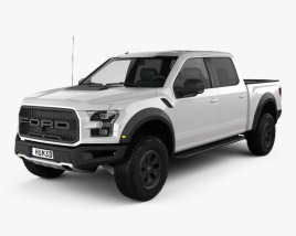 3D model of Ford F-150 Super Crew Cab Raptor 2016