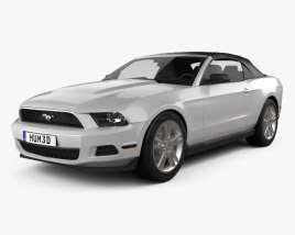 3D model of Ford Mustang V6 Convertible 2010