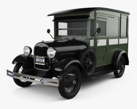 3D model of Ford Model A Delivery Truck 1931