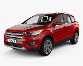 3D model of Ford Escape Titanium with HQ interior 2017