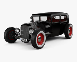 3D model of Ford Model A Hot Rod 2016