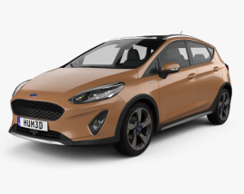 3D model of Ford Fiesta Active 2017