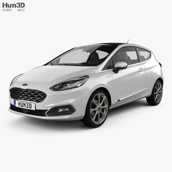Ford Fiesta Vignale 2017 3D model