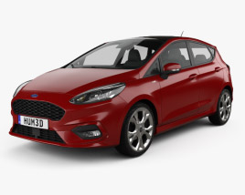 3D model of Ford Fiesta ST-Line 2017