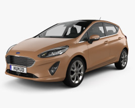 3D model of Ford Fiesta Titanium 2017