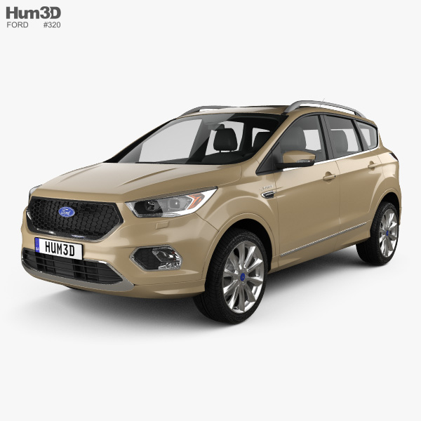 3D model of Ford Kuga Vignale 2016