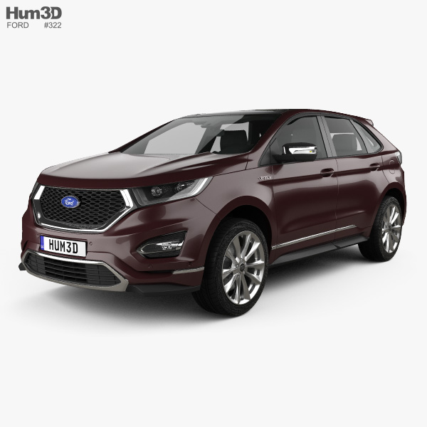 3D model of Ford Edge Vignale 2016