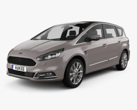 3D model of Ford S-Max Vignale 2016
