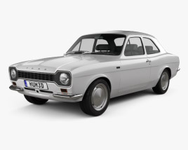 3D model of Ford Escort RS1600 1970