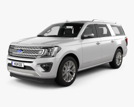 3D model of Ford Expedition MAX Platinum 2017